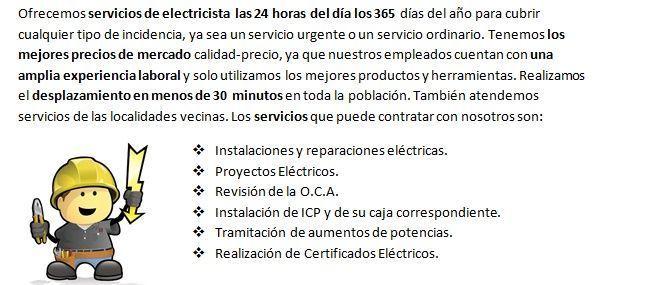 Electricistas en Calvarrasa de Abajo autónomos